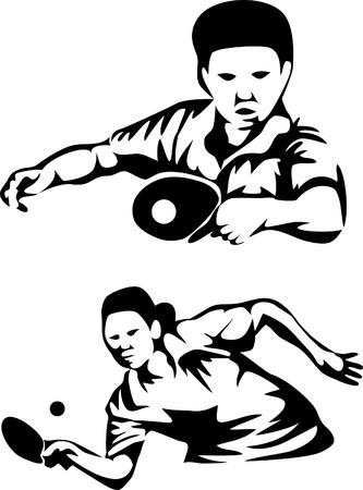 pingpong: jugador de tenis de mesa