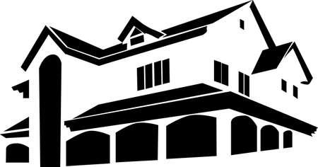 real estate logo Stock Vector - 17120036