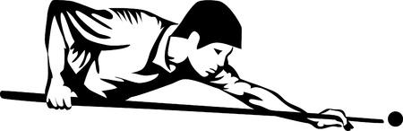 billiards player Illustration