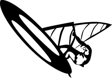 windsurf: windsurfing Illustration