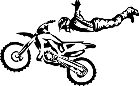 motocross -  freestyle Vector