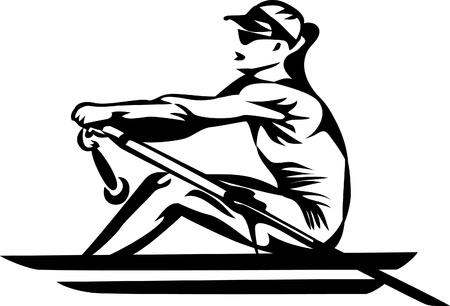rower - woman Illustration