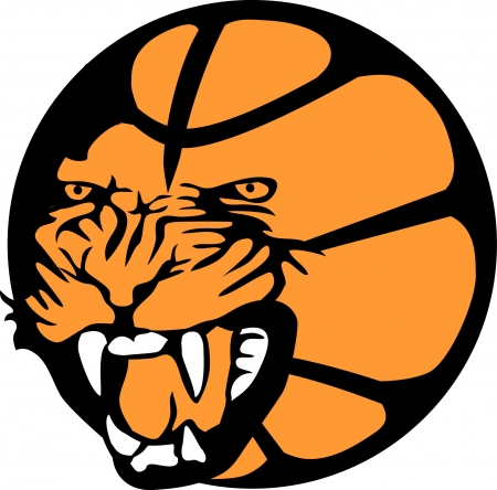 cougar: basketball club emblem