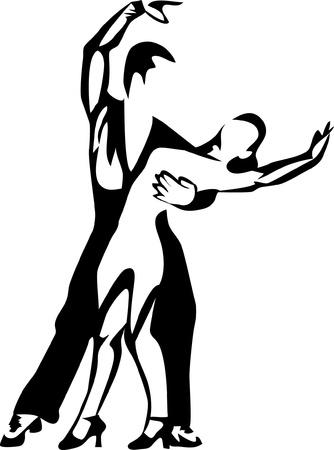 dancing logo Stock Vector - 17775401