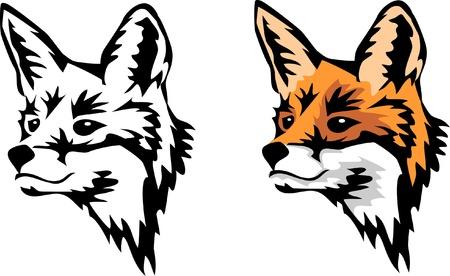 carnivoros: cabeza de zorro Vectores