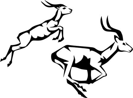antilope en cours d'exécution Vecteurs