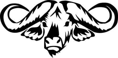 head of african water buffalo Stock Vector - 17775396