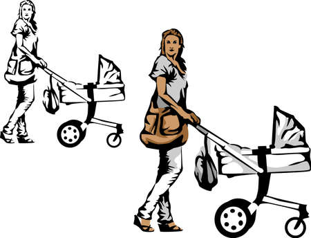 mammy: woman with stroller