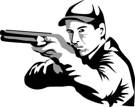 fusil de chasse: tireur