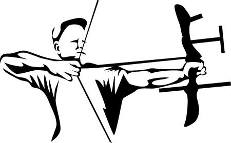 arco y flecha: tiro al arco Vectores