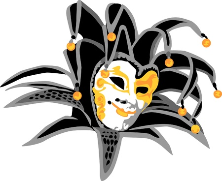 venice carnival: carnival mask - joker Illustration