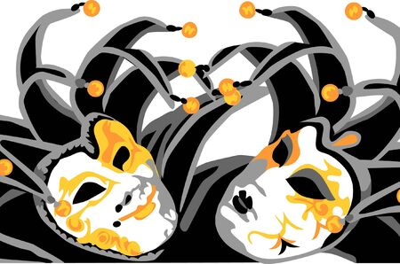 carnival masks - joker Stock Vector - 17989913