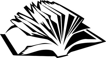 open book logo Stock Vector - 18226439