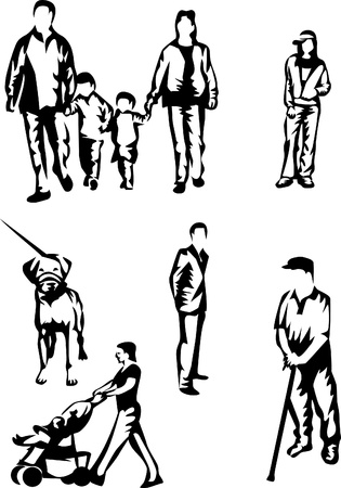 categories: family silhouettes, age categories