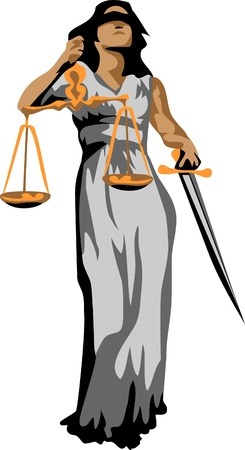 goddess of justice logo Illustration