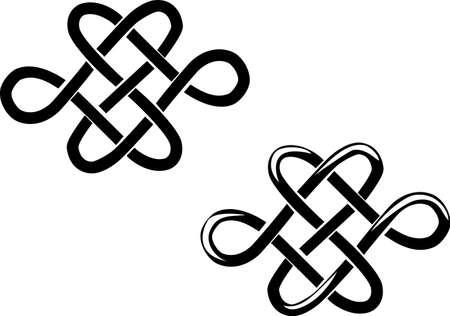 two hearts - celtic ornament Stock Vector - 18226438