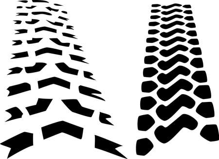 tracks tractor tires Stock Vector - 18226482