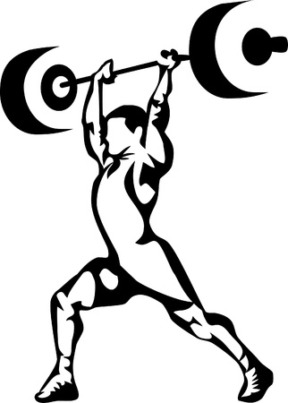 bodybuilding: weightlifting Illustration