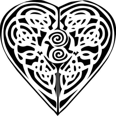 pagan: talisman en forme de coeur Illustration