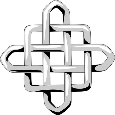 celtic square knot Vector