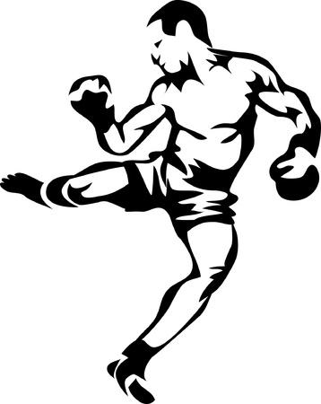 kickboxing: kick boxer