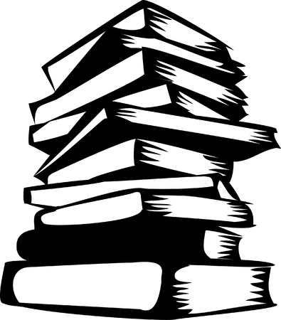 law library: stack of books Illustration
