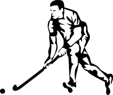 hockey sobre cesped: hockey sobre hierba logo jugador
