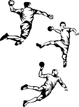 pallamano: giocatore di pallamano logo Vettoriali