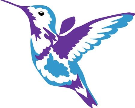 vliegende hummningbird Stock Illustratie