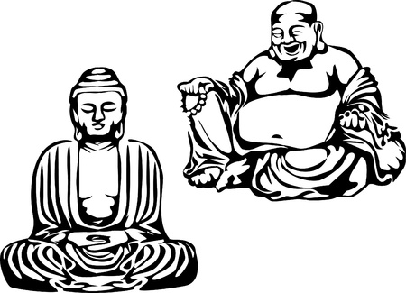 smiling buddha: buddha Illustration