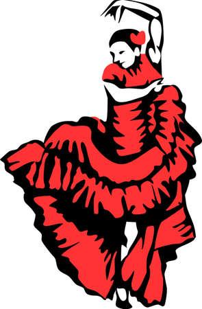 donna spagnola: ballerina di flamenco