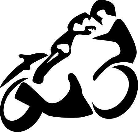 motociclista: motociclista Vettoriali