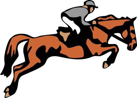 uomo a cavallo: salta a cavallo