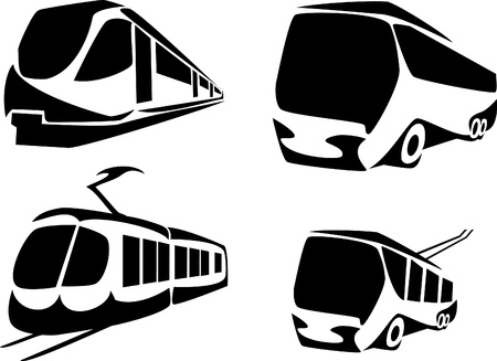 public transportation in the city Vector