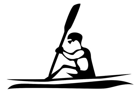kayaking: kayaking Illustration
