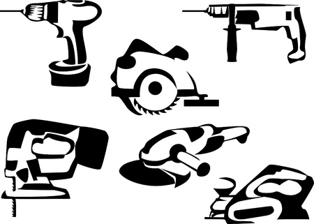 electric tools Vector