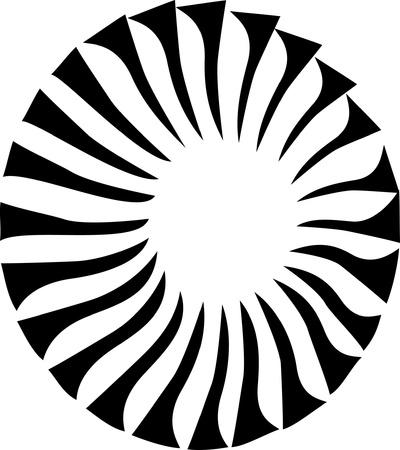 turbine engine: stylized fan