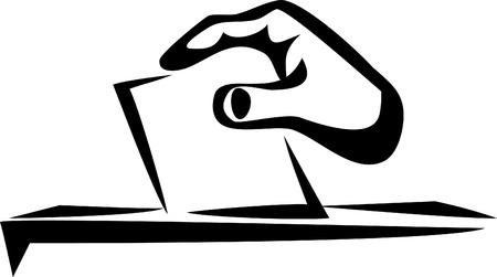 plebiscite: vote icon