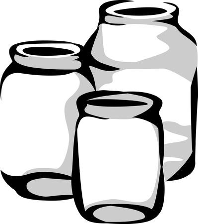 glass jars Ilustração