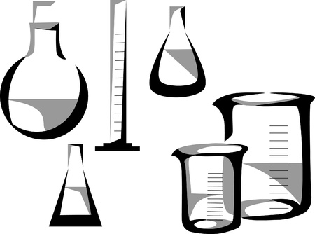 stylized laboratory glassware Stock Vector - 20892774