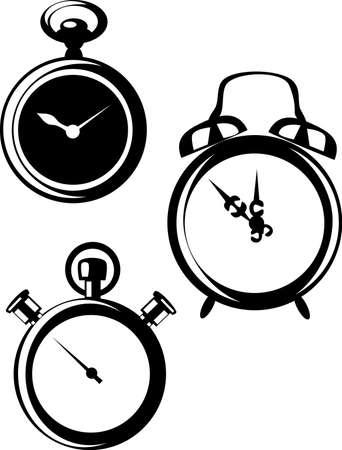 clock icons Stock Vector - 21999778