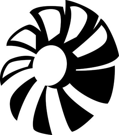ventilador Ilustración de vector