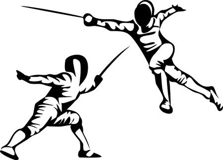 fencing sport Illusztráció