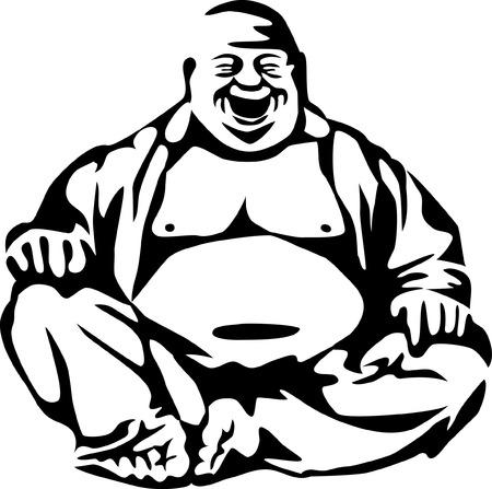 웃고 부처님 일러스트