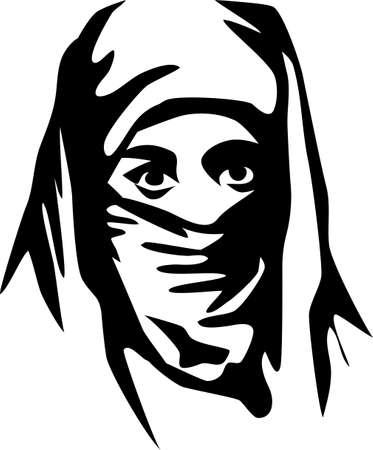 burqa: woman with burqa