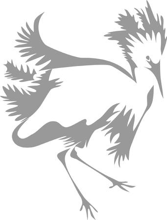egret: heron Illustration