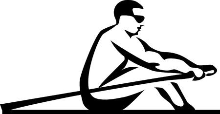 stylized rower Illustration