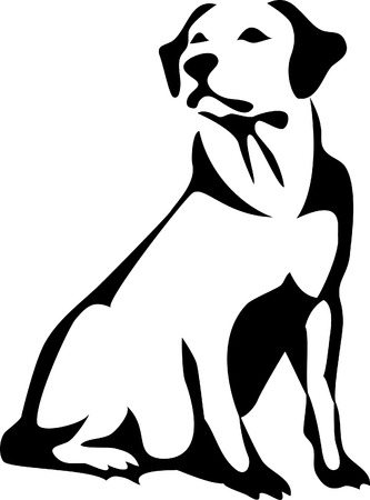 sitting retriever Vector