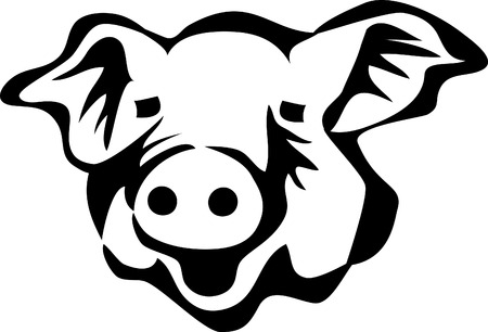 pigsty: pig head