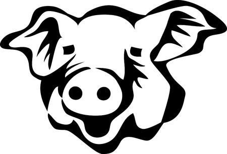varkenshoofd Vector Illustratie